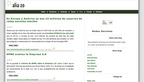 Blog Corporativo - Alianzo - Redes Sociales