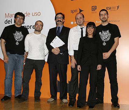 El equipo de la presentación del libro Manual de Uso del Blog en la Empresa - Guggenheim